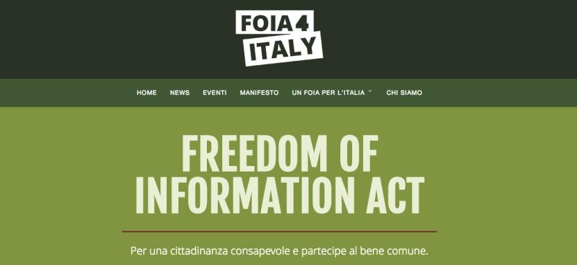 Diritto di sapere, anche in Italia serve un FOIA