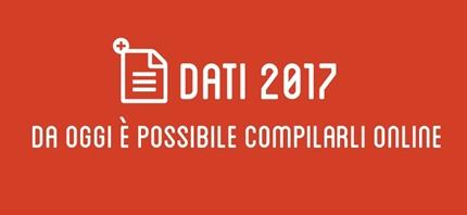DATI 2017: da oggi è possibile compilarli online