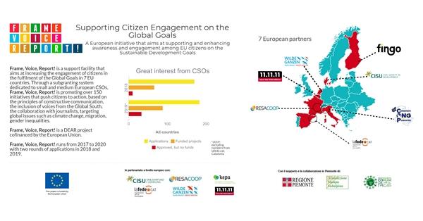 FRAME, VOICE, REPORT! Giornalismo e cooperazione per gli Obiettivi di Sviluppo Sostenibile