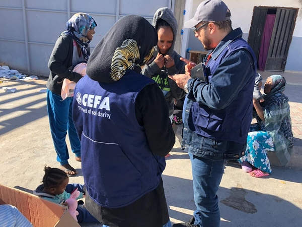 Distribuzione di kit alimentari, Libia